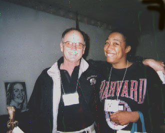 Mel White and me in at Soulforce action in Lynchburg, VA, 1998