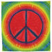 peace sign tiedye