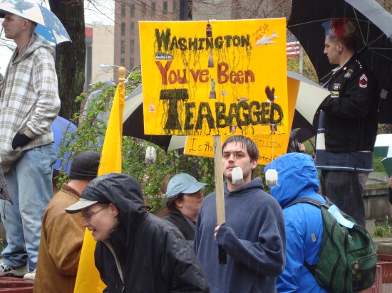 The reactionary Right proudly embraced the term Teabagger at the beginning.
